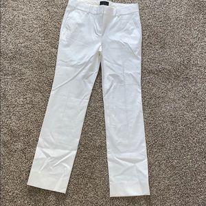 J.Crew Sz 4P NWOT Stretch Cotton white dress pants